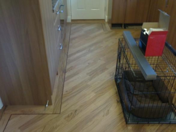 Kitchen Floor - Karndean Tigerwood
