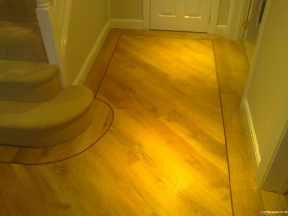 Kardean flooring Transforming a Hallway